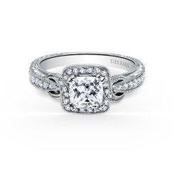 Kirk Kara Pirouetta Cushion Cut Engagement Ring K150C6S
