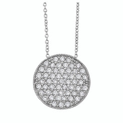 KC Designs Diamond Disc Necklace with 54 Diamonds weighing 1.02 Carats