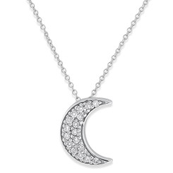KC Designs Diamond Half Moon Necklace with 17 Diamonds weighing .15 carats N3749