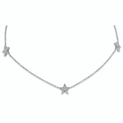KC Designs Diamond Triple Star Necklace with 18 Diamonds weighing .16 carats N1330