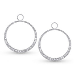 KC Designs Diamond Medium Circle Earring Charms with 42 Diamonds weighing .27carats CH3710