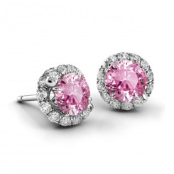Danhov Abbraccio Swirl Pink Sapphire Diamond Earrings AH100-PS