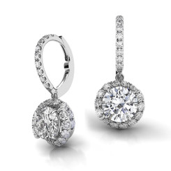 Danhov Abbraccio Swirl Diamond Drop Earrings AH101