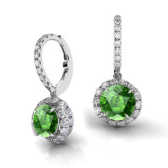 Danhov Abbraccio Swirl Diamond Drop Earrings Green Tourmaline AH101-GT