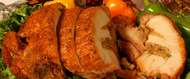 Deboned turkey roll stuffed w/ rice dressing 5lbs. Serves 6-8