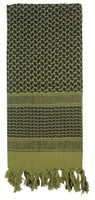 Olive drab and black Shemagh tactical desert scarf