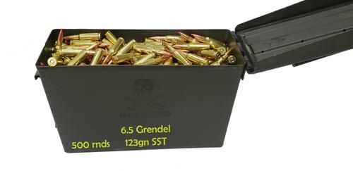 500 rounds of 6.5 Grendel ammunition