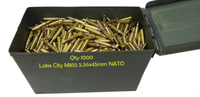 1000 round can of Lake City M855 5.56x45mm NATO ammunition