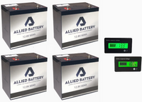 EZGO RXV Lithium Battery Set (Includes 4 Batteries - 48V)