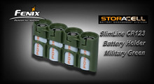 StorAcell SlimLine CR123 Battery Holder (Green)