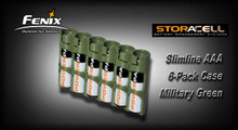 StorAcell Slimline AAA 6-Pack Case (Military Green)