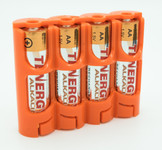 StorAcell SlimLine AA Battery Case (Orange)