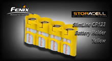 StorAcell SlimLine CR123 Battery Holder (Yellow)