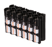 StorAcell 12AA Pack Battery Caddy (Black)