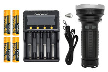 Fenix TK75 LED Flashlight Charger and Batteries Bundle