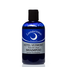 All natural and organic, try this blend of shampoo in the signature Hotel Vermont scent of lemon eucalyptus. 10 oz bottle.