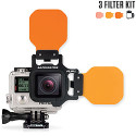 FLIP7Combo Package with SHALLOW, DIVE, and DEEP Underwater Color Correction Filters for GoPro  Hero7, Hero6, Hero5, Hero4, Hero3+ & Hero3