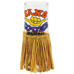 Hawaiian Shot Glass Hang Loose With Hula Skirt