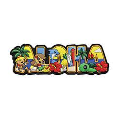 """Hawaii Magnet Rubber Aloha Block 4""""W x 1""""H x D"""