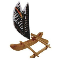 Hawaiian Canoe Kit Packaged Kit With Instructions 8.5 In.