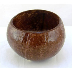 Hawaiian Style Coconut Cup Bowl 3.5 To 5 Inches