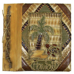 "Hawaiian Photo Album Palm Turtle 12"" x 14"""
