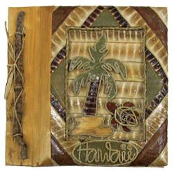 "Hawaiian Photo Album Palm Turtle 7"" x 7"""