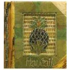 "Hawaiian Photo Album Green Leaf Pineapple 12"" x 14"""