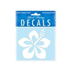 Hawaii Decal Graphic Hibiscus White 4 In. X 3.4 In.