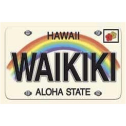 Hawaii Playing Cards Waikiki License Plate