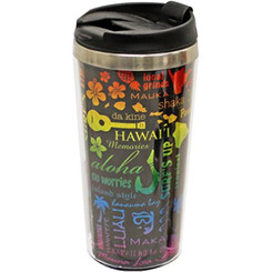 Hawaii Stainless Steel Thermal Tumbler Island Icons