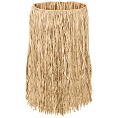 "Hula Grass Skirt Natural Teenage 28"" Waist 26"" Length"
