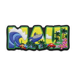 "Hawaii Magnet Rubber Maui Block 3""W x 1""H x D"