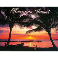 Hawaii Badge Magnet Sunset