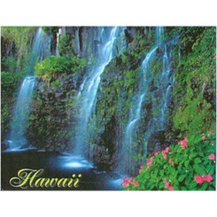 Hawaii Badge Magnet Waterfalls