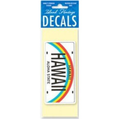 Hawaii Decal State License 5.5 In. By 1.5 In.