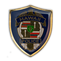 Hawaii Lapel Or Hat Pin Honolulu Hpd Department Blue, Gold