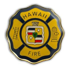Hawaii Lapel Or Hat Pin Hfd Department Gold, Black