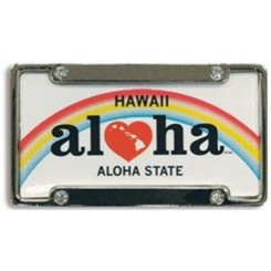 Hawaiian Magnet Heart Of Hawaii License Plate & Frame