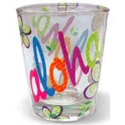 Hawaiian Shot Glass Bold Aloha