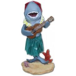 Hawaiian Miniature Dashboard Doll Shark With Ukulele