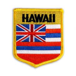 Hawaiian Iron-On Embroidery Applique Patch Hawaii Shield