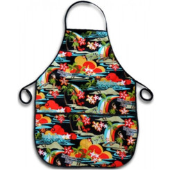 Hawaiian Fabric Apron Island Hula