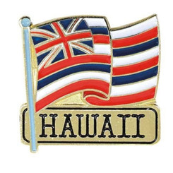 Hawaiian Lapel Or Hat Pin State Flag Red, White