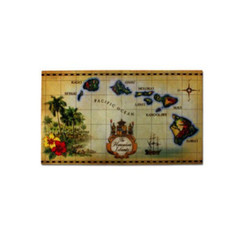 Hawaiian Decorative Doormat Islands Tan