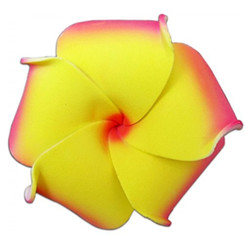 Foam Flower Medium Hair Clip Plumeria Red, Orange