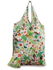 2 Foldable Reusable Hawaii Shopping Tote Bags Island Hula Honeys