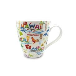 18 oz. U-Shape Coffee Mug 2 Pack Hawaiian Adventures