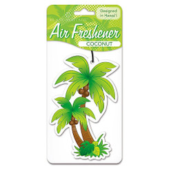 Automobile Car Air Freshner Palm Tree Coconut Scent 2 Packs
