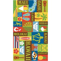 Hawaii Style Deluxe Beach Towel Aloha Print